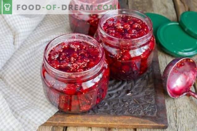 Gruby dżem malinowy z całymi jagodami