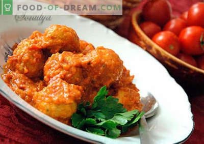 Klopsiki ze sprawdzonymi przepisami na sos. Jak właściwie i smacznie gotowane klopsiki z sosem.