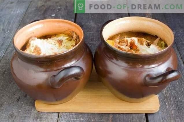 Żeberka wieprzowe w garnku z dynią i pieczarkami