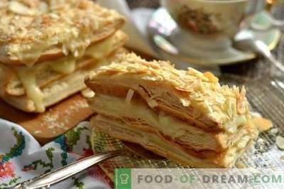 Prăjitură Napoleon cu cremă