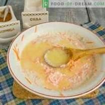 Serniki z marchewką, rodzynkami i cynamonem