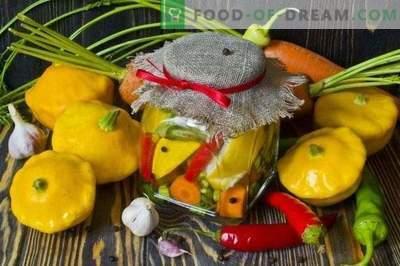 Marynowany squash z marchewką i ostrą papryką