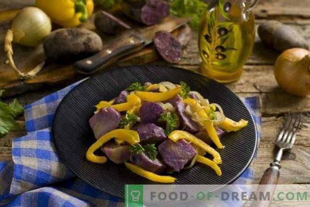 Sałatka wielkopostna z fioletowymi ziemniakami