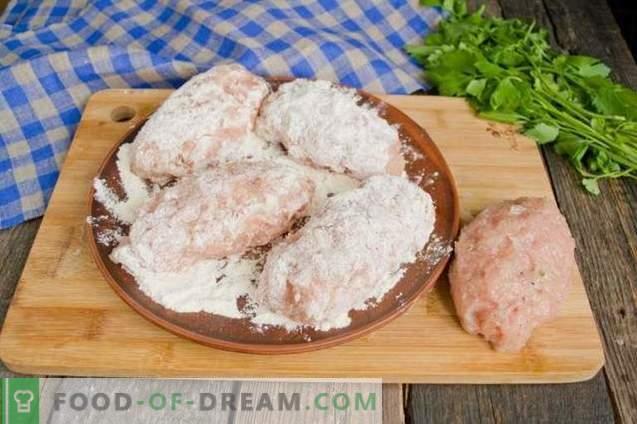 Kotlety z kurczaka w Kijowie wykonane z mięsa mielonego - łatwa opcja gotowania