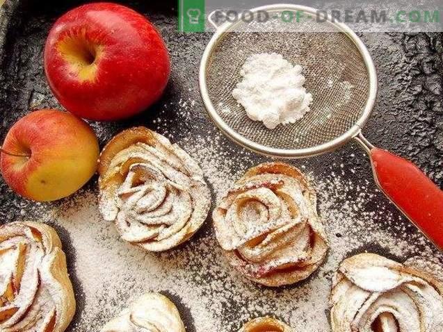 Pieczone róże z ciasta francuskiego