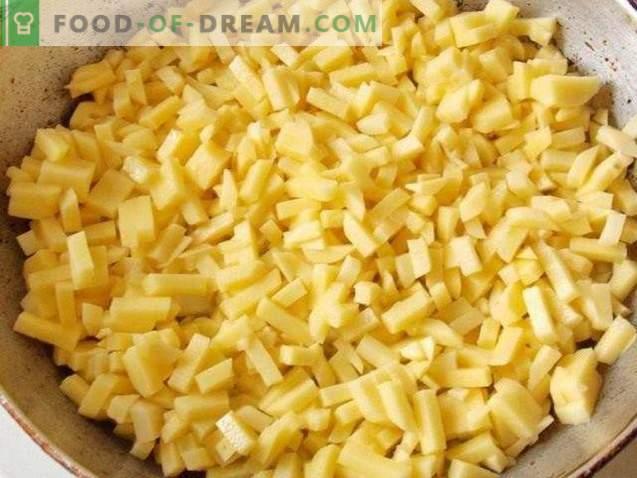 Praetud kartulid köögiviljadega