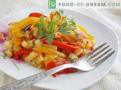 Smażone ziemniaki z warzywami