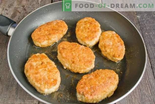 boulettes de poulet hachées aux oignons