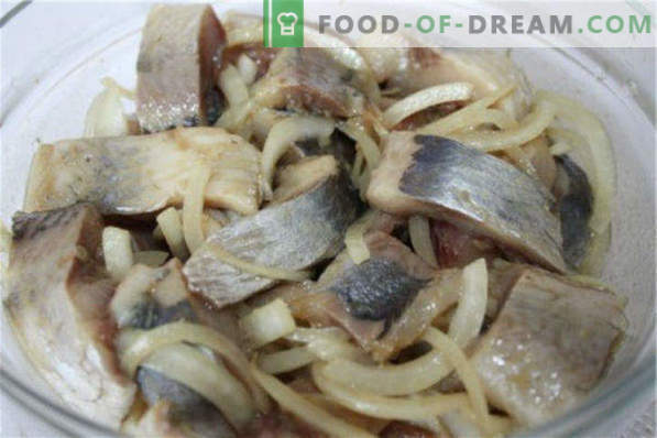 How to salt herring at home is tasty and fast, in marinade and dry salting