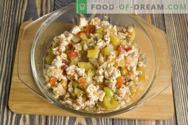 Filet z kurczaka z ryżem i warzywami po koreańsku