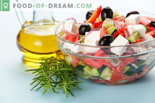 Sałatki z oliwą z oliwek - wybór najlepszych przepisów. Jak prawidłowo i smacznie przygotować sałatki z oliwą z oliwek.