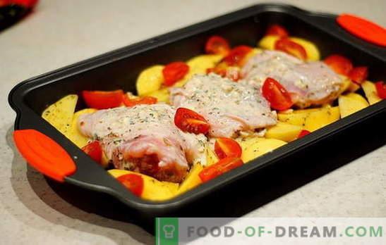 Uda z kurczaka z ziemniakami w piekarniku - najlepsze przepisy. Przepisy na uda z kurczaka z ziemniakami w piekarniku: w folii, rękawie