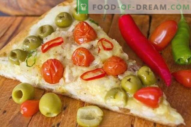 Pizza z kurczakiem i pomidorami cherry