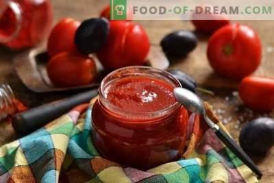 Domowe keczup pomidorowy i śliwki zimowe