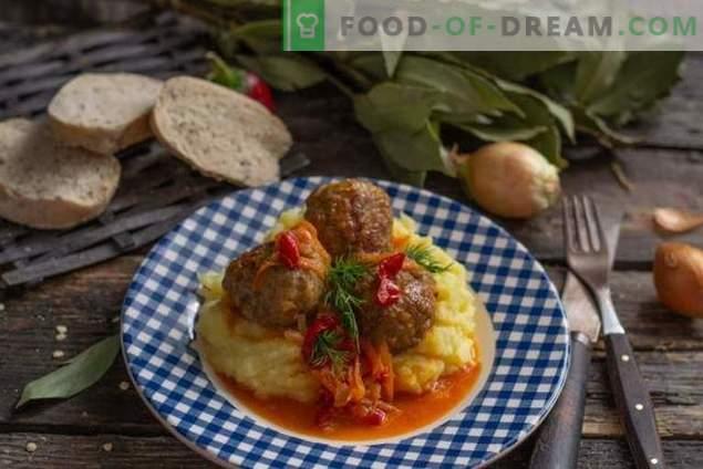 Albóndigas italianas, o bolas de carne en salsa de verduras