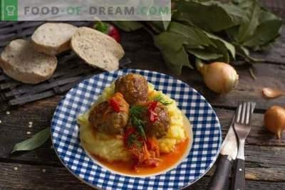 Italiaanse gehaktballetjes of vleesballen in groentesaus