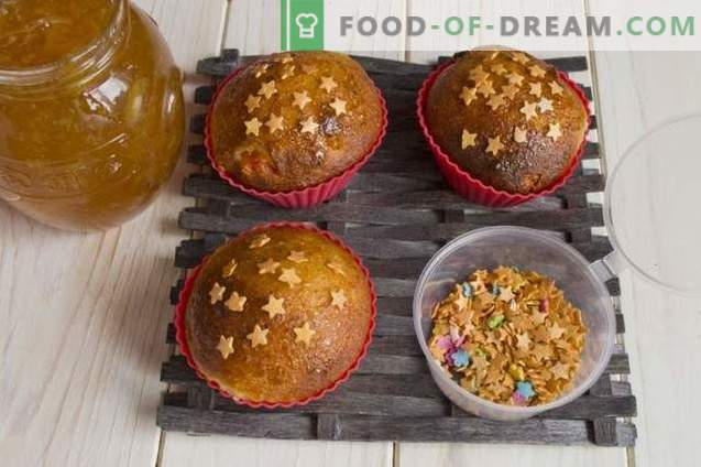 Cottage Cheese Muffins with Cardamom and Candied Fruit