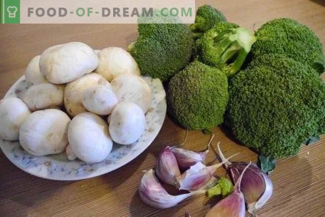 Broccoli cu ciuperci