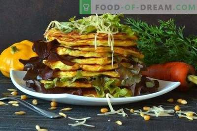 Vegetable pancakes with patissons and parmesan