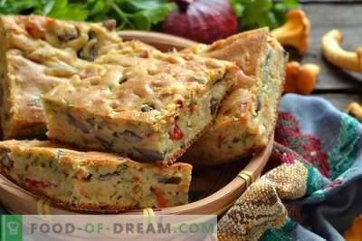 Ciasto z grzybami na kefir