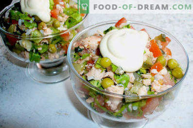 Gotowane sałatki rybne - przepisy na dni powszednie i święta