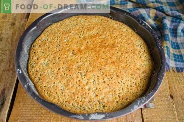 Mannik z makiem na kefirie - proste i smaczne ciasto