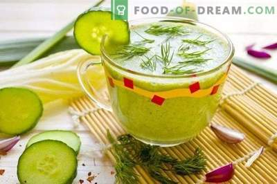 Smoothie au concombre et aux épinards