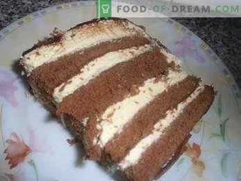 Cómo cocinar un pastel Leche de ave con sémola, una receta detallada.