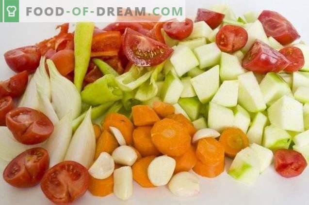 Kawior z pieczonych warzyw