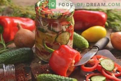 """Sałatka zimowa """"Witamina"""" z kapustą, pomidorami, papryką i ogórkami"""