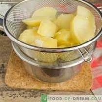 Puree ziemniaczane - przepis na mleko i masło