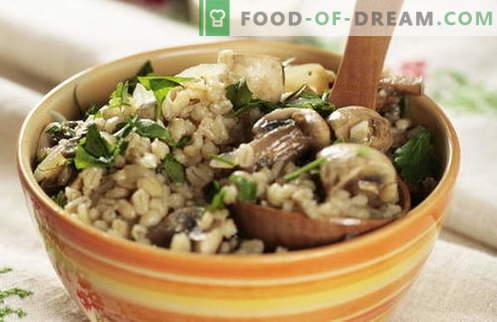 Ječmenova kaša - najboljši recepti. Kako kuhati ječmenovo kašo.