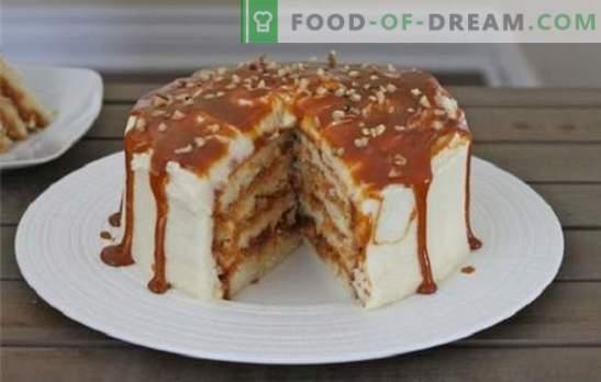 Miód, piasek, ciastka i ciasta waflowe ze skondensowanym mlekiem. Przepisy na ciastka ze skondensowanym mlekiem