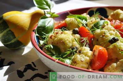 Sałatka kalafiorowa - najlepsze przepisy. Jak prawidłowo i smacznie gotować sałatkę z kalafiora.
