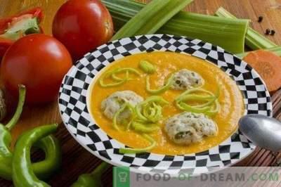 Zupa jarzynowa z klopsikami z kurczaka