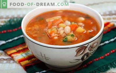 Zupa z fasoli w puszce z serem, jabłkami, gulaszem, rybą. Przepisy na domowej roboty zupę fasolową w puszkach