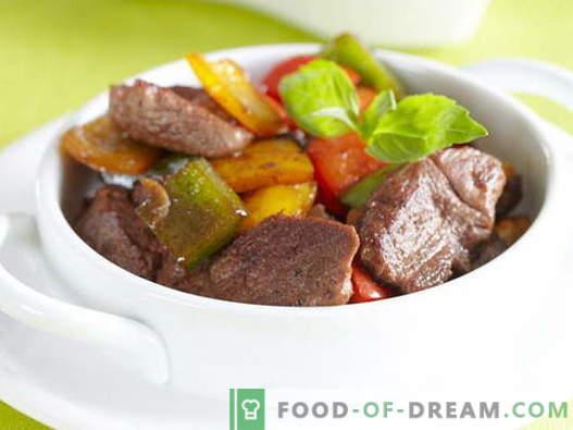 Mięso ze słodką (bułgarską) papryką - najlepsze przepisy. Prawidłowe gotowanie mięsa ze słodką papryką.