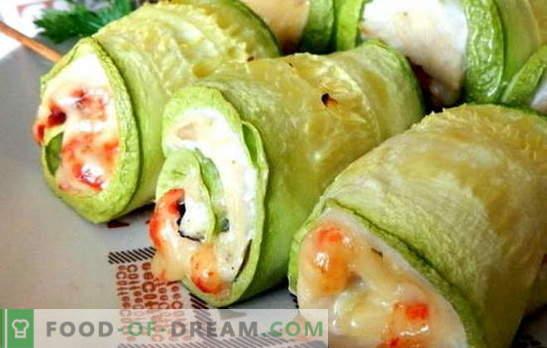 Zucchini Breast - zdrowe i smaczne. 7 najlepszych receptur na piersi z cukinią: pod serem, śmietaną, śmietaną, z grzybami