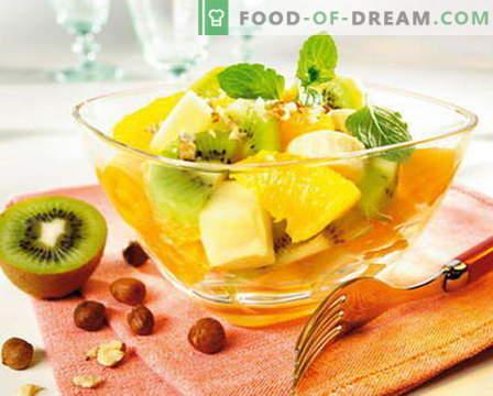Sałatka owocowa - najlepsze przepisy. Jak prawidłowo i smacznie przygotować sałatki owocowe.