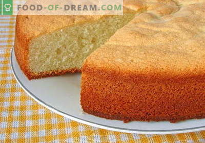 Ciasto gąbczaste - najlepsze przepisy. Jak prawidłowo i smacznie gotować ciasto biszkoptowe.