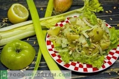 Sałatka ziemniaczana wielkopostna z selerem naciowym i jabłkiem