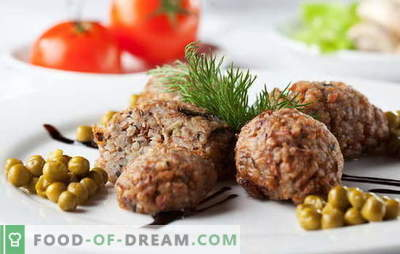 Buckwheat cutlets are a great way to love buckwheat. Recipes buckwheat cutlets with mushrooms, minced meat, liver, cheese and vegetables