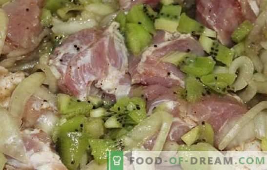Marinade for kiwi kebab - quickly and universally. Kiwi marinade recipes for pork, beef, chicken, fish