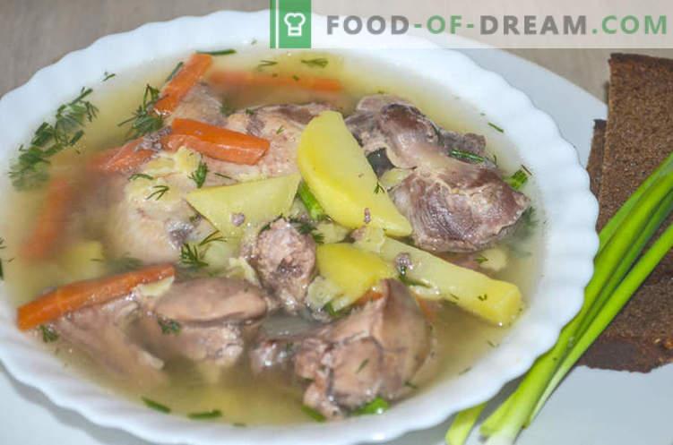 Zuppa con rigaglie di pollo, o come cucinare la zuppa Gleb Zheglov - ricetta