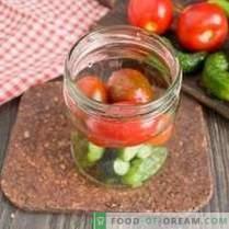Gewürzgurken mit Tomaten - Sommer für den Winter sortiert