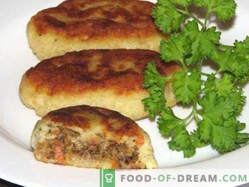 Zrazy ziemniaczane - najlepsze przepisy. Jak prawidłowo i smacznie gotować zrazy ziemniaczane.