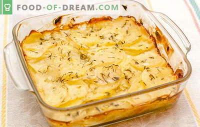 """Ziemniaki w śmietanie w piekarniku - """"król"""" warzyw na stole. Ulubione przepisy na ziemniaki zapiekane w śmietanie"""