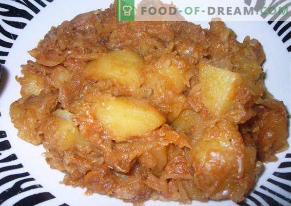 Jak dusić kapustę z ziemniakami w kotle, rondlu, multicooker