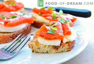 Les sandwichs festifs sont les meilleures recettes. Comment cuire rapidement et savourer des sandwichs festifs.