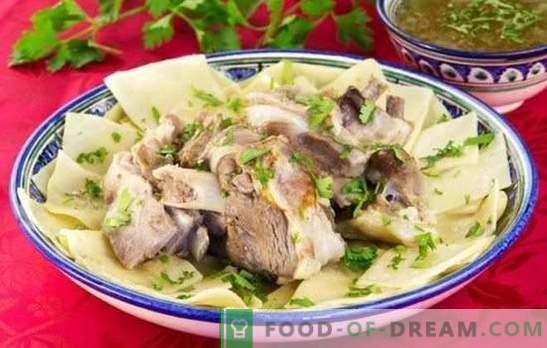 Beshbarmak z wieprzowiny - przepisy na pyszne potrawy ludów mówiących po turecku. Jak gotować beshbarmak z wieprzowiny?